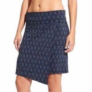 Athleta Blue Printed Seaside Foldover Skirt XS